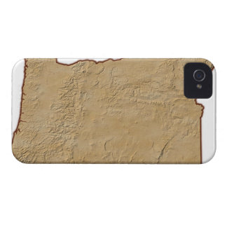 Relief Map of Oregon 2 iPhone 4 Case-Mate Case