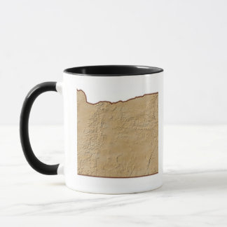 Relief Map of Oregon 2 Mug