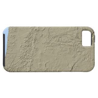 Relief Map of Oregon Tough iPhone 5 Case