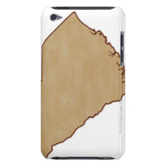 Relief Map of South Carolina iPod Touch Case-Mate Case