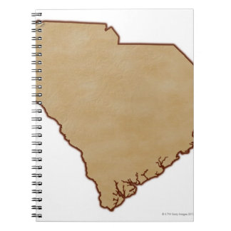 Relief Map of South Carolina Spiral Notebook