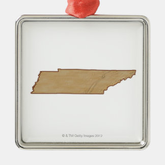 Relief Map of Tennessee Christmas Ornament
