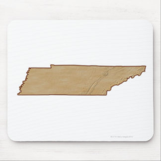 Relief Map of Tennessee Mouse Pad