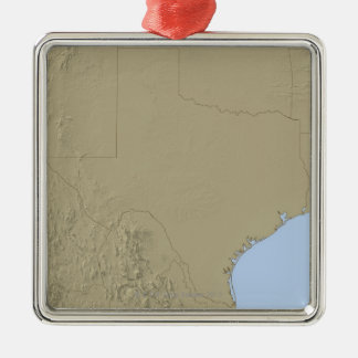 Relief Map of Texas 2 Christmas Ornament