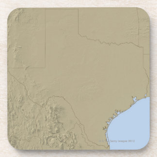 Relief Map of Texas 2 Coaster