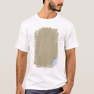 Relief Map of Texas 2 T-Shirt