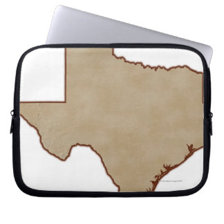 Relief Map of Texas Laptop Sleeve