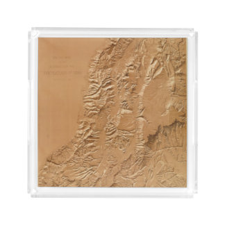 Relief map of Utah Acrylic Tray