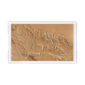 Relief map of Utah Acrylic Tray