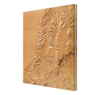 Relief map of Utah Canvas Print