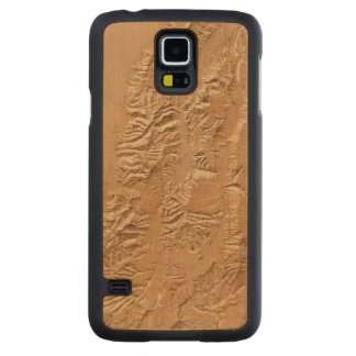 Relief map of Utah Carved Maple Galaxy S5 Case