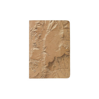 Relief map of Utah Passport Holder