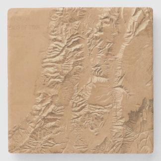 Relief map of Utah Stone Coaster