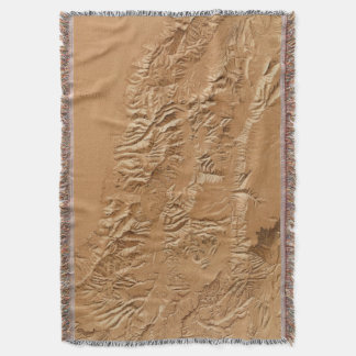 Relief map of Utah Throw Blanket
