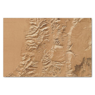 Relief map of Utah Tissue Paper
