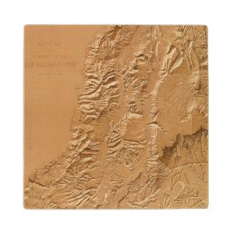 Relief map of Utah Wood Coaster