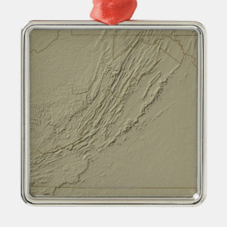 Relief Map of Virginia 2 Christmas Ornament
