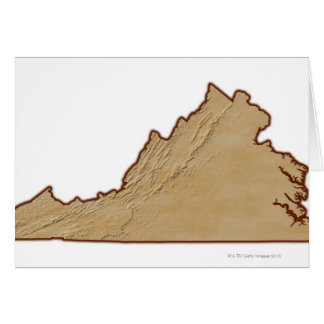 Relief Map of Virginia Card