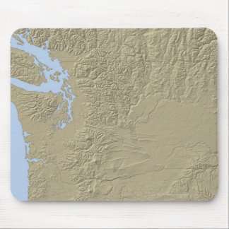 Relief Map of Washington Mouse Mat