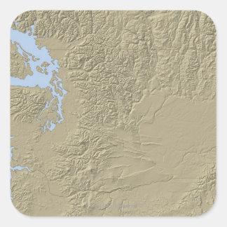 Relief Map of Washington Sticker