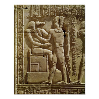Relief of Sobek and Ptolemy VI Philometor Poster