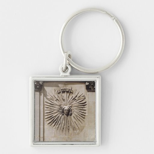 Relief of the sun from the facade keychain