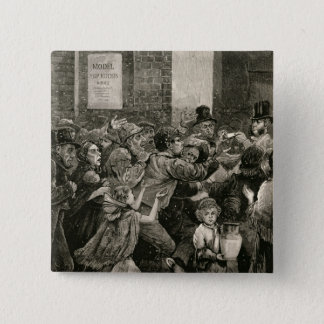 Relief of the Unemployed in London 15 Cm Square Badge