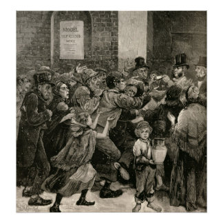 Relief of the Unemployed in London Poster