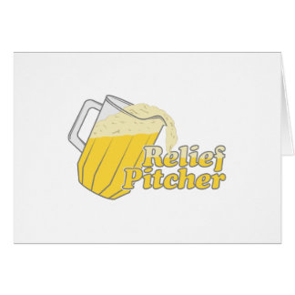 Relief Pitcher Beer Baseball Greeting Card