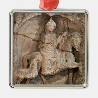 Relief representing Epona, Gaulish goddess Christmas Ornament