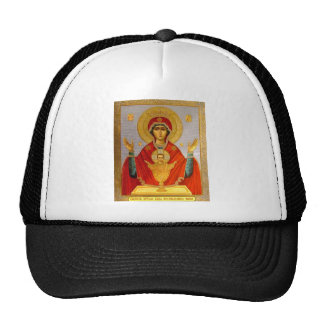religeous icon holy mary and child cap