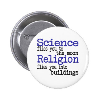Religion and Science 6 Cm Round Badge