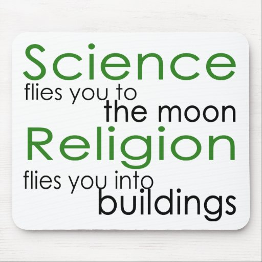 Religion and Science Atheist Mouse Pad