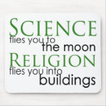 Religion and Science Atheist Mousepads