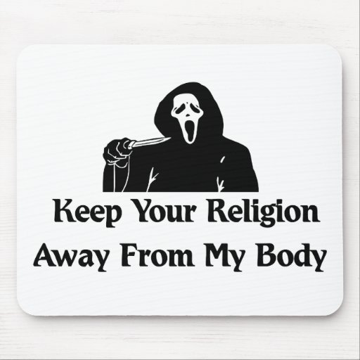 Religion Away From My Body Mouse Pads