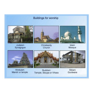 Religion, Buildings for worship Postcard