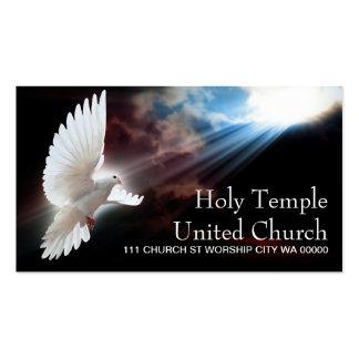 Religion Christian Dove Spiritual Church Praise Business Cards