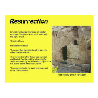 Religion, Christianity, Easter, Resurrection Postcard