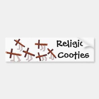 Religion Cooties Bumper Sticker