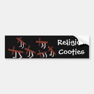 Religion Cooties Car Bumper Sticker