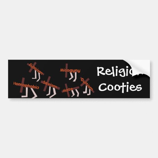 Religion Cooties Bumper Stickers