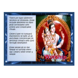 Religion, Hindu Worship Postcard