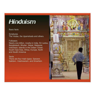 Religion, Hinduism, Basic facts Poster