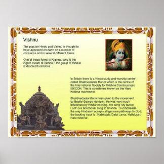 Religion, Hinduism, God Vishnu Poster