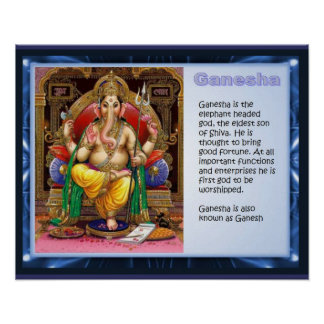 Religion, Hinduism, gods, Ganesha Poster