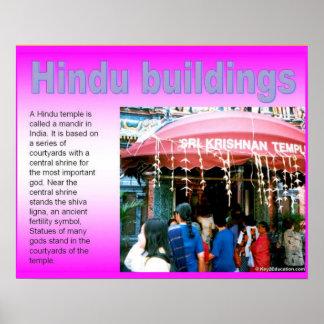 Religion, Hinduism,Hindu buildings Poster