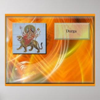 religion, Hinduism, Hindu deity Durga Print