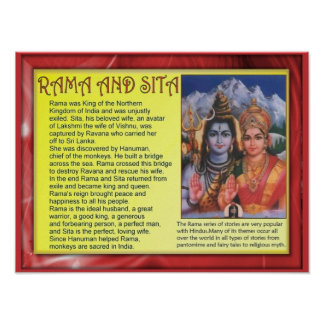Religion Hinduism Rama and Sita Posters