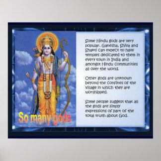 Religion, Hinduism, So many gods Poster