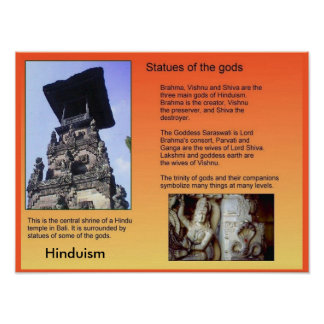 Religion, Hinduism, Statues of the gods Posters